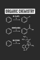 Organic Chemistry: Klassenpr�fung Student Notizbuch liniert DIN A5 - 120 Seiten f�r Notizen, Zeichnungen, Formeln - Organizer Schreibheft