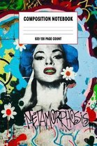 Composition Notebook: Cute College Ruled Graffiti Composition Notebook 6x9 120 pages