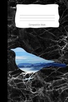 Composition Book: Bird Sky Mountain Cover - Notebooks - Wide Ruled Line Paper - 120 Pages - Soft Cover