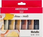Amsterdam Standard Series Acrylics Metallic Set 6 × 20 ml