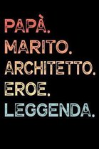 Pap�. Marito. Architetto. Eroe. Leggenda.: Calendario Organizzatore Calendario Settimanale per Pap� Uomini Festa del pap� Compleanno Festa del pap� Fe