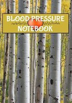 Blood Pressure Notebook: 7 x 10 53 Week Daily Blood Pressure Log Book and Heart Rate Tracker Birch Tree Cover (54 Pages)