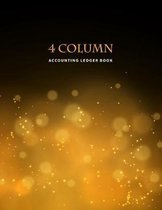 4 Column Accounting Ledger Book: Golden Bokeh - Columnar Notebook - Bookkeeping Notebook - Accounting Ledger - Budgeting and Money Management - Home S