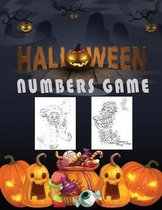 Halloween Numbers Game: Activity Book for Kids Connect the dots, Numbers game, Color by number, Coloring page