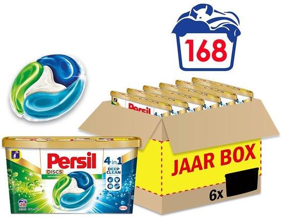 Persil Discs Universal Wascapsules - Wasmiddel Capsules - Voordeelverpakking - 6 x 28 wasbeurten