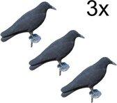 3x XL Kraai - duivenverjager - Kraai 41cm incl. gr