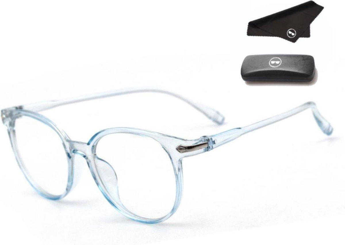 LC Eyewear Computerbril - Blauw Licht Bril - Blue Light Glasses - Unisex - Transparant Blauw