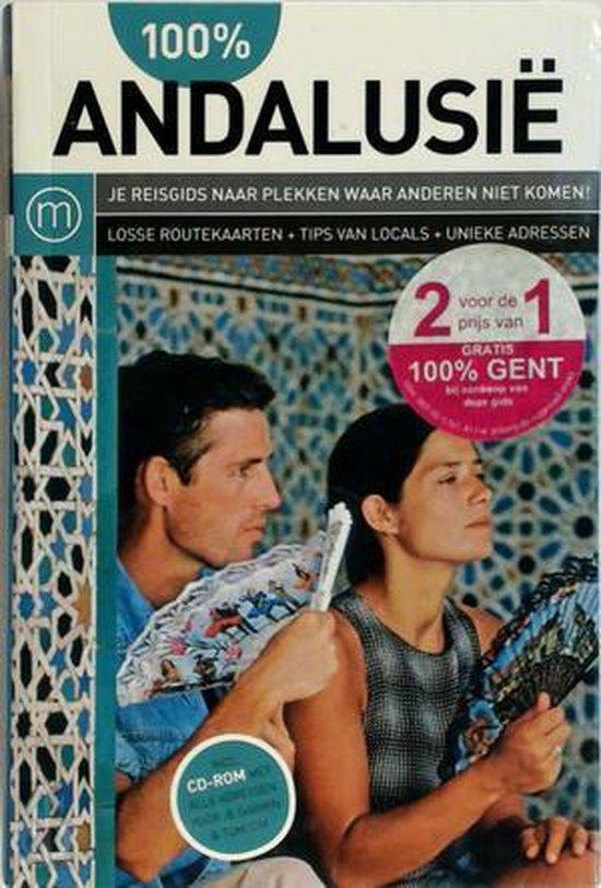 Cover van het boek '100% Andalusië' van Frens Witte en Maria Rademaker