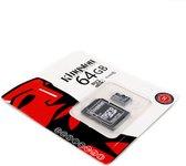 Kingston - MicroSD Kaart 10 UHS-1 64GB - Inclusief adapter
