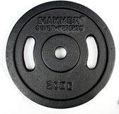 Hammer Halterschijven Gietijzer - met grepen vanaf 5 kg - Hammer 2x 20 kg Halterschijven Gietijzer met Grepen