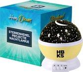 HBKS Happy Dreams Sterren Projector - Galaxy Projectie - Star Light - Sterrenhemel Snoezellamp - Slaaptrainer Baby - Nachtlampje Kinderen - Speelgoed Jongens en Meisjes - Projectorlampen - Babyprojectors - Geel