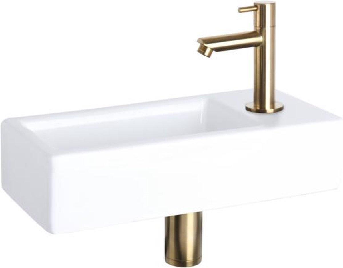 Differnz fonteinset 38.5x18.5x9cm hura keramiek recht mat goud