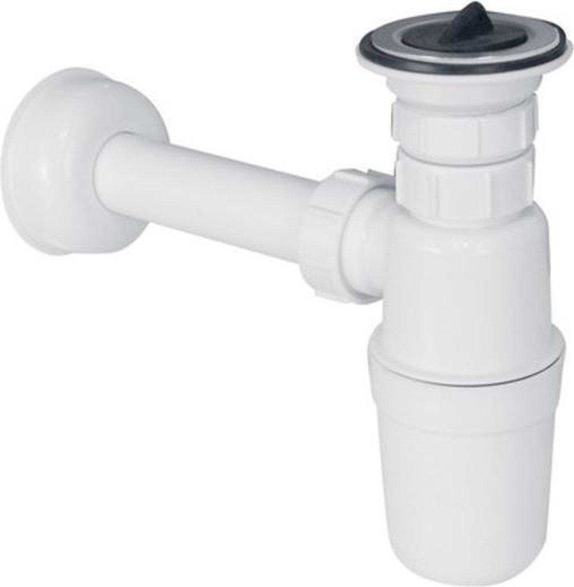 Nemo Go sifon voor lavabo wit plug