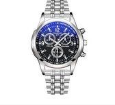Yazole Luxe Heren horloge met schakelband (zwarte wijzerplaat)