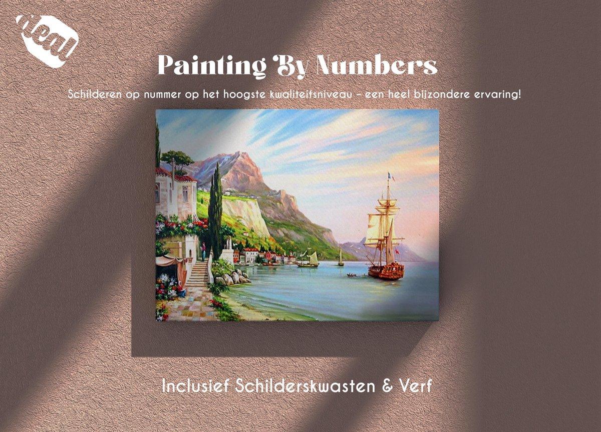 Deal Diamond Painting Schilderen Op Nummer Voor Volwassenen Inclusief Lijst, Canvas, Schilderskwasten & Verf - 40 x 50 cm - Beach