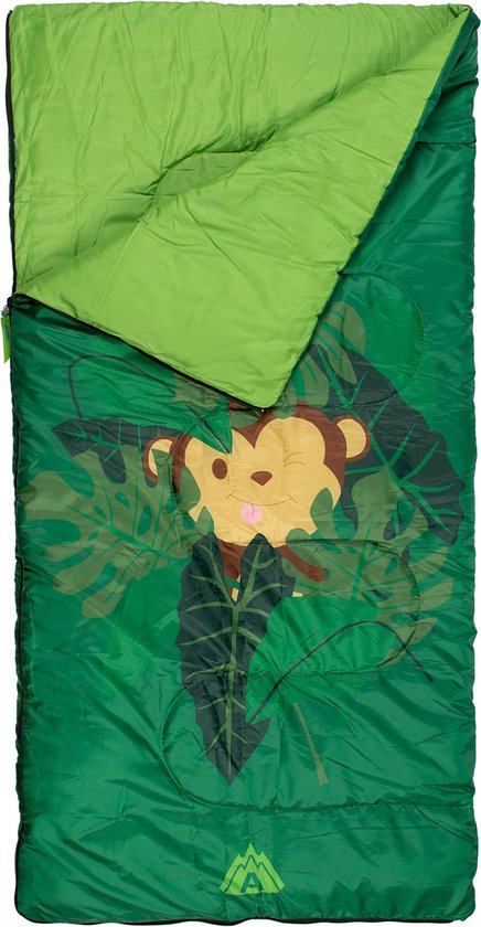 Abbey Camp Slaapzak Junior - Jungle - Groen - 140 x 70 cm