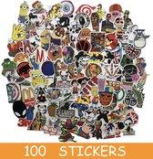 ▶ Skate stickers - 100 stuks - Stickers Skateboard - Stickers volwassenen - Stickers voor het pimpen van je laptop, fiets, skateboard, helm, snowboard, agenda, MacBook, koffer, Nintendo, wat je maar wil! Kortom Stickers volwassenen en kinderen