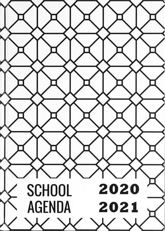 Plan & Huiswerk Agenda - Schoolagenda 2020-2021 - Hardcover - Wit - 7d/2p