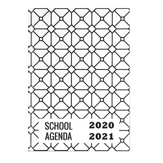 Plan & Huiswerk Agenda - Planagenda | Schoolagenda 2020-2021 - Hardcover - Wit - 7d/2p