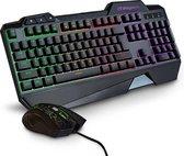 LifeGoods Gaming Keyboard en Muis - Met USB Draad - 7 LED Kleuren/Regenboog - 800-3200 DPI - QWERTY