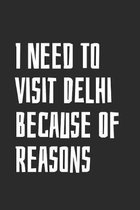 I Need To Visit Delhi Because Of Reasons: Blank Lined Notebook