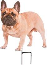 Esschert Design Tuinprikker Hond 19 X 26 Cm Staal Bruin