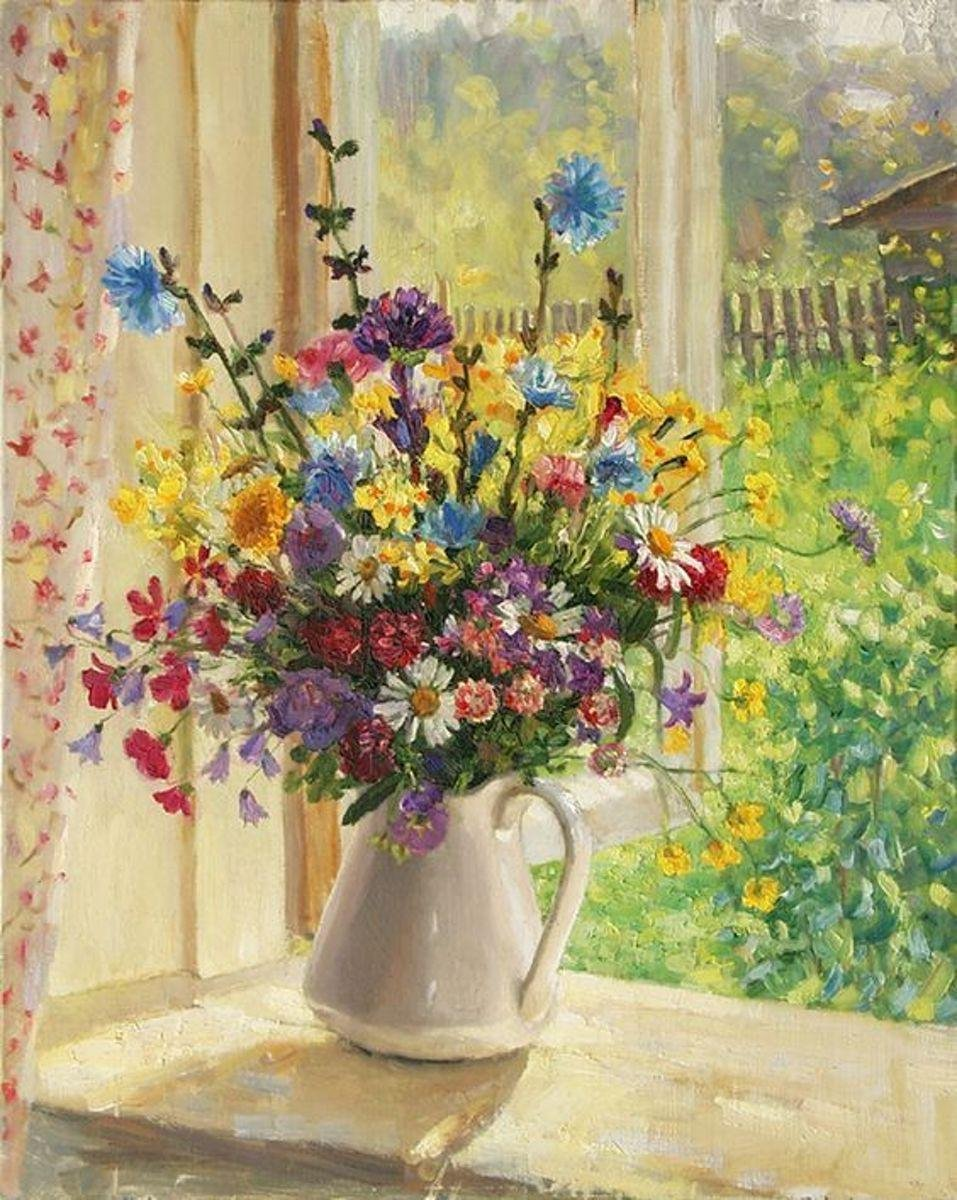 Happy Painter® Diamond Painting volwassenen - Zomers boeket - 50x70 cm