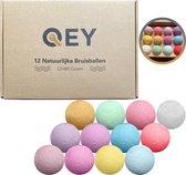 QEY XL Bruisballen set (12 stuks) voor Bad - Bath Bombs - 100% Natuurlijk - 80+ Gram!