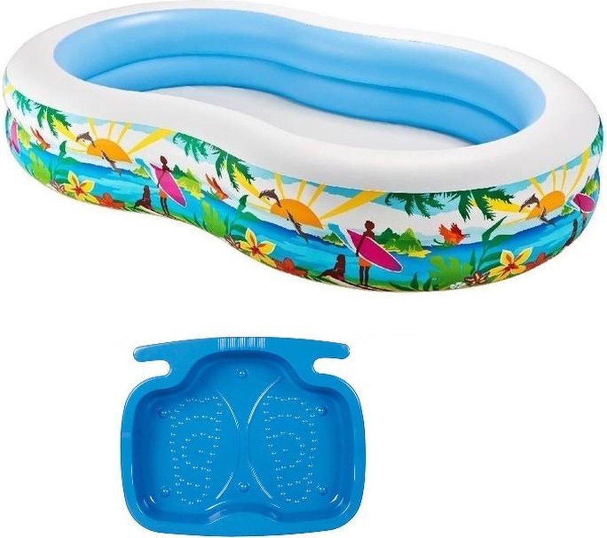 Intex zwembad262 cm inclusief voetenbadje - Opblaaszwembaden - Zwembadaccessoires