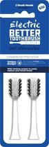 Better Toothbrush- Opzetborstels voor Philips - 2 stuks - wit