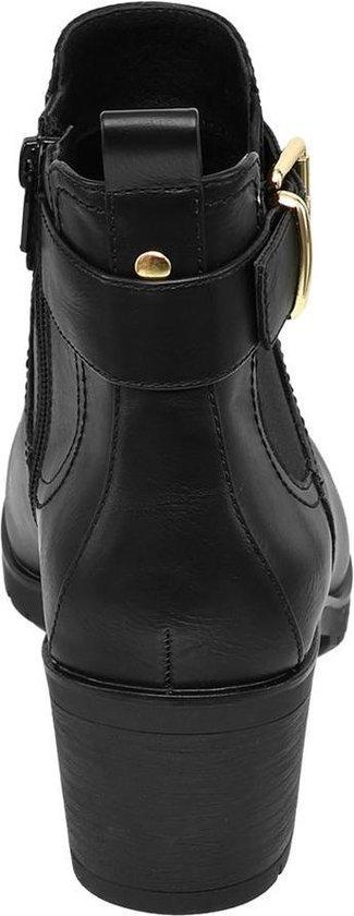 Dames schoenen   Graceland Dames Zwarte enkellaars gesp