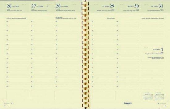 Afbeelding van Agendavulling Brepols 2021 - Timing Creme Papier 6-talig ( 17cm x 22cm)