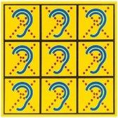 LIMITED HEARING - Stickervel voor textiel - mondkapjes - niet reflecterend - veiligheid - Herkenning - doof - slechthorend