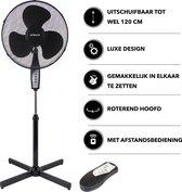 GURHAN - Luxe ventilator - Statiefventilator - Ventilator met Afstandsbediening - Ventilator staand