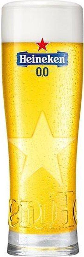 Heineken 0.0 Star Bierglazen - 25cl - 6 stuks - bierpakket - cadeauset
