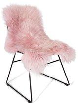 Fluffy Ijslandse Schapenvacht Roze 100-110cm