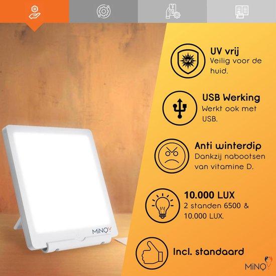 Daglichtlamp Lichttherapielamp Lichttherapie Energielamp - Winterdepressie - 2 Standen - 6500 10000 LUX - MINQY®
