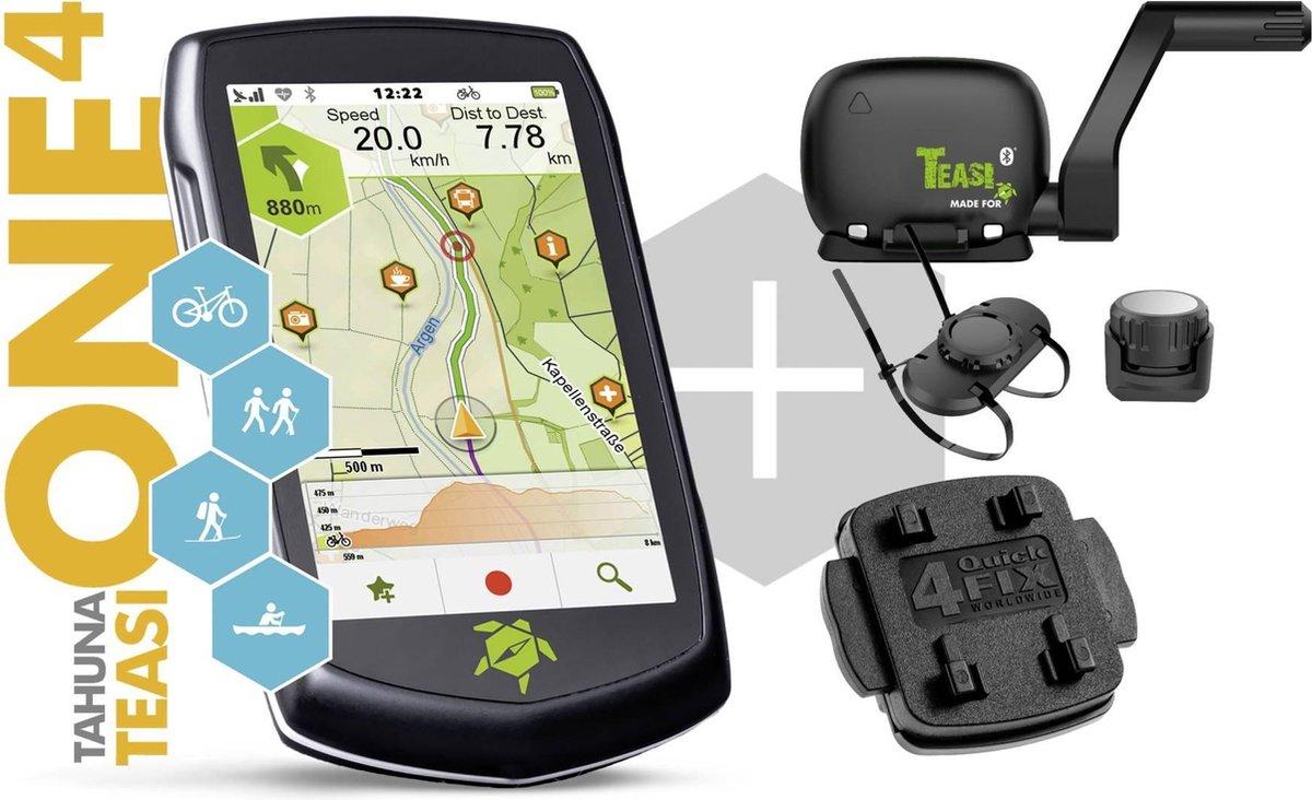 Teasi Tahuna ONE⁴ Speed Sensor Bundle Outdoor navigatie Varen, Fietsen, Wandelen Europa GPS, Bluetoo
