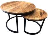 AnLi-Style salontafels rond set van 2 Balk