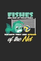Fishes volleyball net: 6x9 Volleyball - dotgrid - dot grid paper - notebook - notes