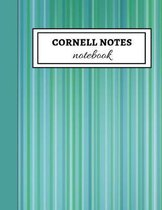 Cornell Notes Notebook: Cute Large Cornell Note Paper / Note Taking Filler Paper For School And University
