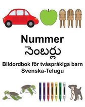 Svenska-Telugu Nummer/నెంబర్లు Bildordbok foer tvasprakiga barn