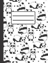 Cute Panda: Composition Notebook, Collage Ruled, Perfect For School Notes