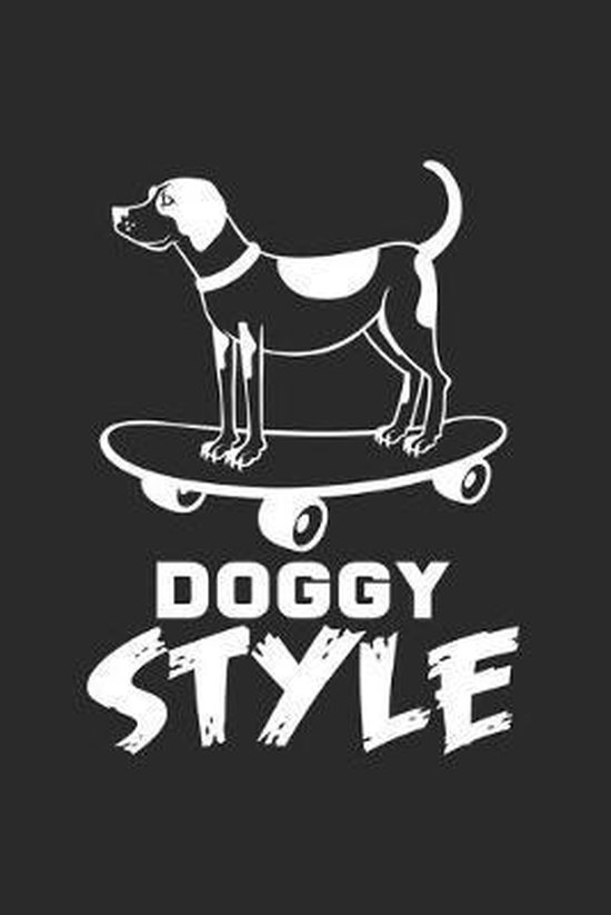 Doggy style: 6x9 Skateboarding - dotgrid - dot grid paper - notebook - notes