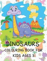 Dinosaurs Colouring Book for Kids ages 3