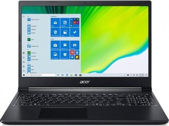 Acer Aspire 7 A715-75G-74H3 15,6 inch Core i7-10750H/16GB/1TB SSD/GTX1650 Windows 10