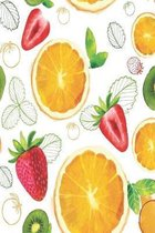 Fruity notebook: simple notebook with many fruits perfect for fruitarian