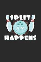 Split happens: 6x9 Bowling - dotgrid - dot grid paper - notebook - notes