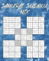 Samurai Sudoku Mix: 150 R�tsel - inkl. L�sungen - 5-fach Logikr�tsel - 3 Schwierigkeitsstufen: einfach, mittel, schwer