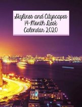 Skylines and Cityscapes 14-Month Desk Calendar 2020: Featuring Beautiful Cities Around the World